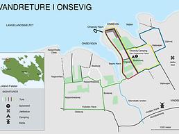 Oversigtskort Vandreture i Onsevig