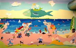 Vægmaleri på Hundested bibliotek 201