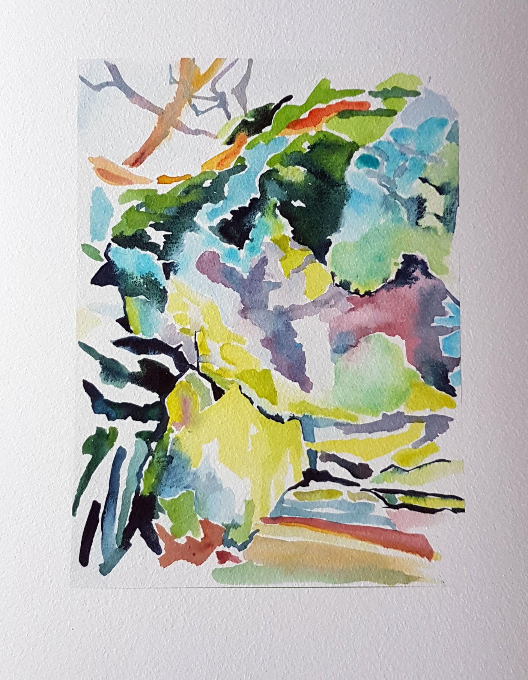 """""""Sweden"""" – akvarel"""