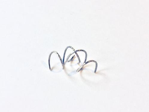 Adorn512 Silver Twist Earrings