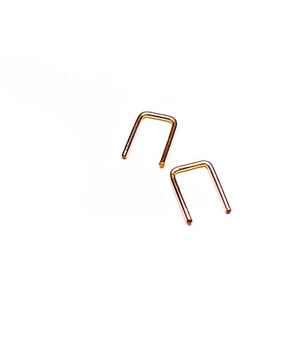 Adorn512 Rose Gold Tiny Square Earrings