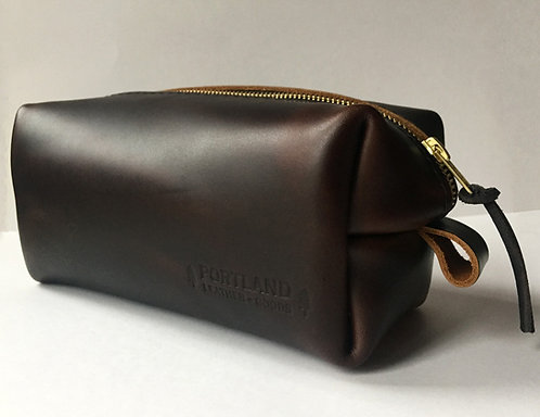 Walnut Leather Dopp Kit by Portland Leather Goods