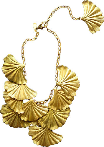 We Dream in Colour Grand Ginkgo Necklace