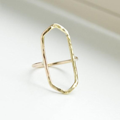 Adorn512 Gold Cocktail Ring