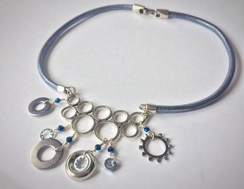 Gear Collar Necklace by Lynne Maslowski