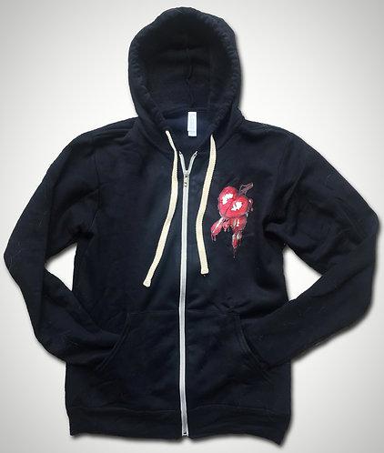 Toni Rose Bleeding Heart Zip Unisex Hoodie