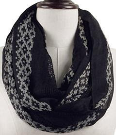 Embroidered Infinity Scarf