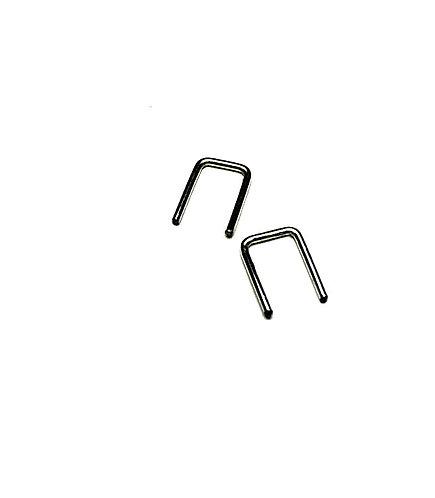 Adorn512 Gunmetal Tiny Square Earrings
