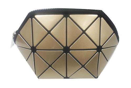 SR SQUARED by Sondra Roberts Geometric Cosmetic Case - Gold