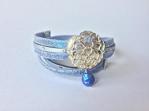 Leather Wrap Charm Bracelet by Lynne Maslowski