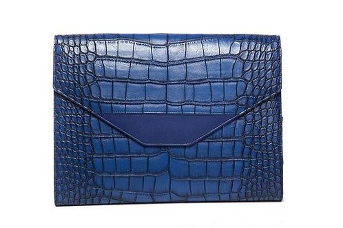 Hang Accessories Harlequin Crocodile Tablet Organizer - Blue