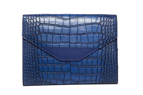 Hang Accessories Harlequin Crocodile Tablet Organizer - Blue