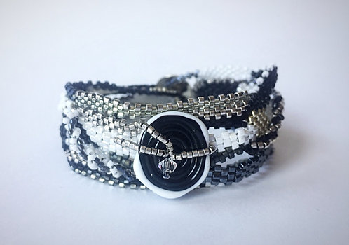 Handwoven Bead Bracelet by Lynne Maslowski