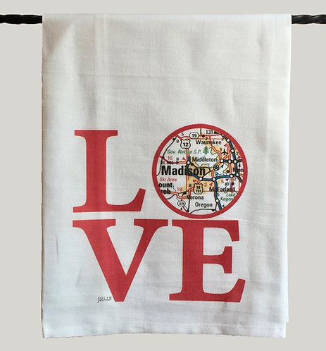 Julio Designs Love Tea Towel