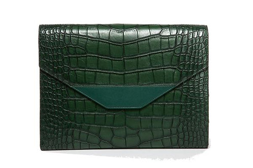 Hang Accessories Harlequin Crocodile Tablet Organizer - Green