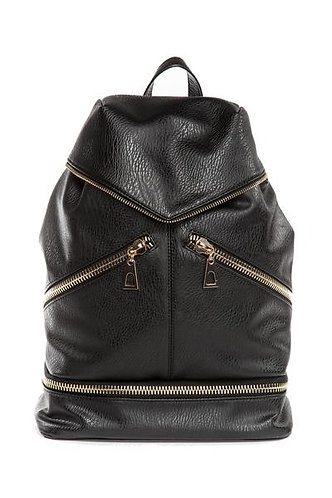 Hang Accessories Alexia Convertible Bucket Bag Backpack - Black