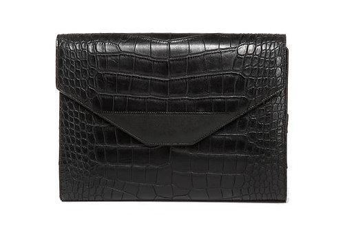 Hang Accessories Harlequin Crocodile Tablet Organizer - Black