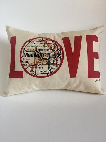 Julio Designs Love Throw Pillow