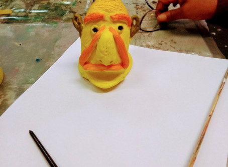 Painting clay heads and figures,'Fill Your Life With Creative Arts Workshops No: 10 | 17.01.2020