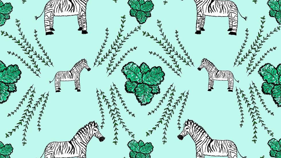 Zebras In a Jungle