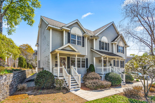 161 Forest Street - Unit 161 Malden, MA: Forestdale,  02148 LISTED AT: $479,900  2 Beds 2 Full | 1 Half 1,326 Sq. Ft.   Located just minutes away from the Oak Grove T-stop, this townhouse on the Melrose/Malden line boasts an ideal location with easy access to walking trails, playgrounds, a dog park, restaurants and coffee shops. Delight in your own private green space in the generous backyard or from your new back deck (2021). Inside enjoy zoned heating and central air, a new indirect hot water heater (2021), open concept living, high ceilings, and two generous bedrooms. Updated stainless kitchen appliances, large glass sliders, and plentiful sunshine complete the look. The finished basement provides additional living space with a family room/office, full bath, laundry room, and plentiful storage. Enjoy the tree lined streets that beckon to animal lovers and exercise enthusiasts alike all while having the comfort of two off-street deeded parking spaces. This stellar location has it all.