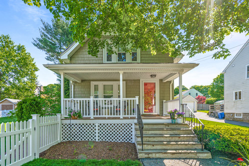30 Norval Avenue | Stoneham, MA 02180 SOLD: $720,000  3 Bedrooms 1.5 Bathrooms 1,508  Sq. Ft.  Simply turnkey home awaits! Classic NE Col nestled in Farm Hill, brimming with sunlight and smart space, offers scale that exudes comfort, while the expansive green space calls for recreation|gardening. In keeping to its period roots, the front porch creates a welcome into the main gathering space. Living room, with triple windows facing the porch, adjoins the dining room spilling into the kitchen, crafting an open flow with delineated spaces. The dining room, a blend of the formal and informal, hosts bay windows overlooking the lawn and is bridged to the kitchen by a peninsula for dining or buffet, while the kitchen features granite, stainless appliances and light cherry cabinets, connecting to the sitting room, a lovely escape and offers flex use, bringing the outside inside adjoining the deck. The second level holds three BRs of nice proportion, laundry, full bath & office nook. Gorgeous, manicured yd with low profile deck. Nearby the Fells, shops/dining/transportation routes.