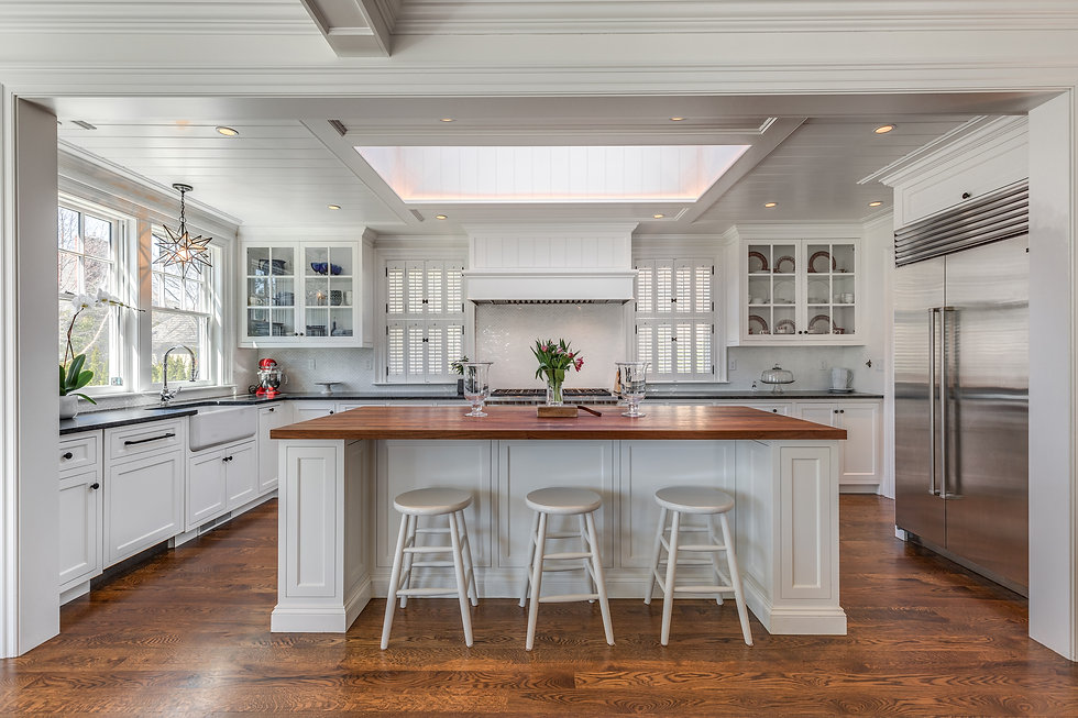 Gorgeous high end kitchen with all white cabinets