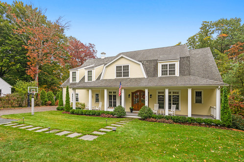 314 Dover Road | Westwood, MA Listed at: $1,825,000  5 Bedrooms 3 Full | 2 Half Bathrooms 5,054 Sq. Ft.  Elegance paired with modern comfort are the hallmarks of this Contemporary Cape that boasts substantial scale and extensive detailing throughout this multi-level home, built for entertaining and living both inside and outside! The extensively renovated private backyard features a patio, hot tub, fire pit, built-in propane grill and flat space for garden and play, plus a lower terrace, all overlooking Rock Meadow Brook Conservation. The first floor hosts the sun splashed vaulted ceiling formal living room, dining room, study, primary bedroom en suite, with the kitchen in the heart of the home that opens to the fire-placed family room with casual dining spilling out to the yard. The lower level features a game room, space for exercise and media room, opening to the side patio, fabulous hang-out or guest space. The upper level hosts 4 bedrooms with walk-in closets and 2 full baths, plus laundry room. 3 car garage. Close to shops, restaurants and easy access to major routes+train. A score!