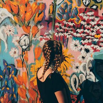 Braided Girl and Graffiti