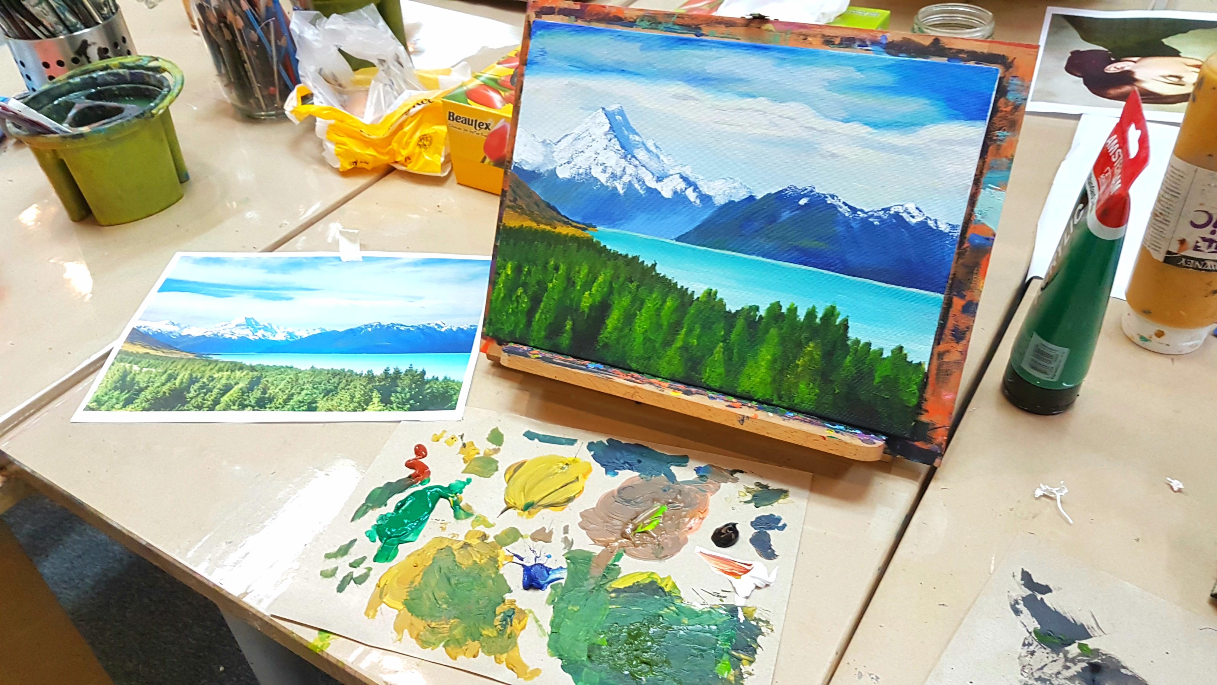 Landscape Painting  Class Singapore