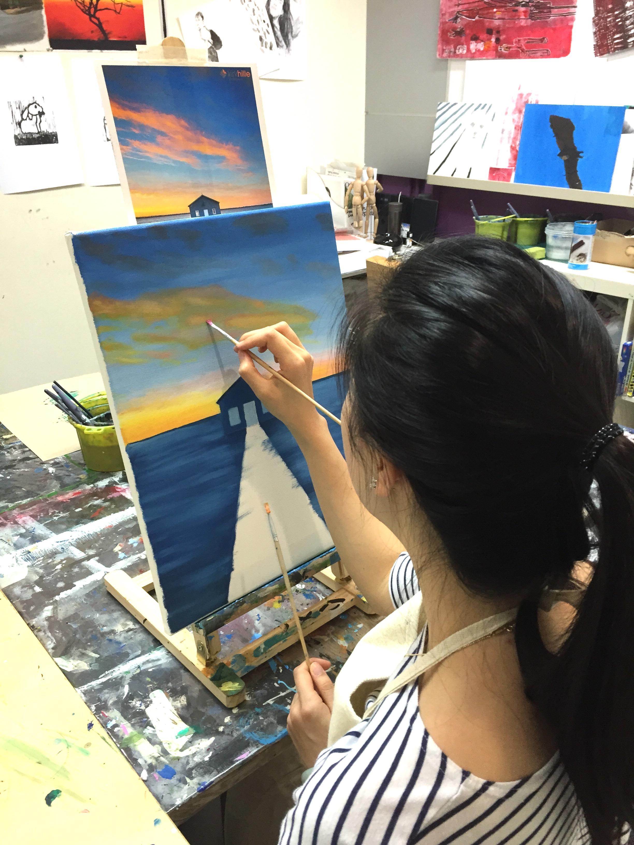 Art Class Singapore (oil painting )
