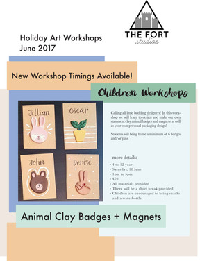 New Time Slots for our Holiday Art Workshops