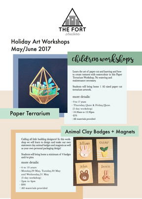 New Holiday Art Workshops! By The Fort Studios and our invited guests!