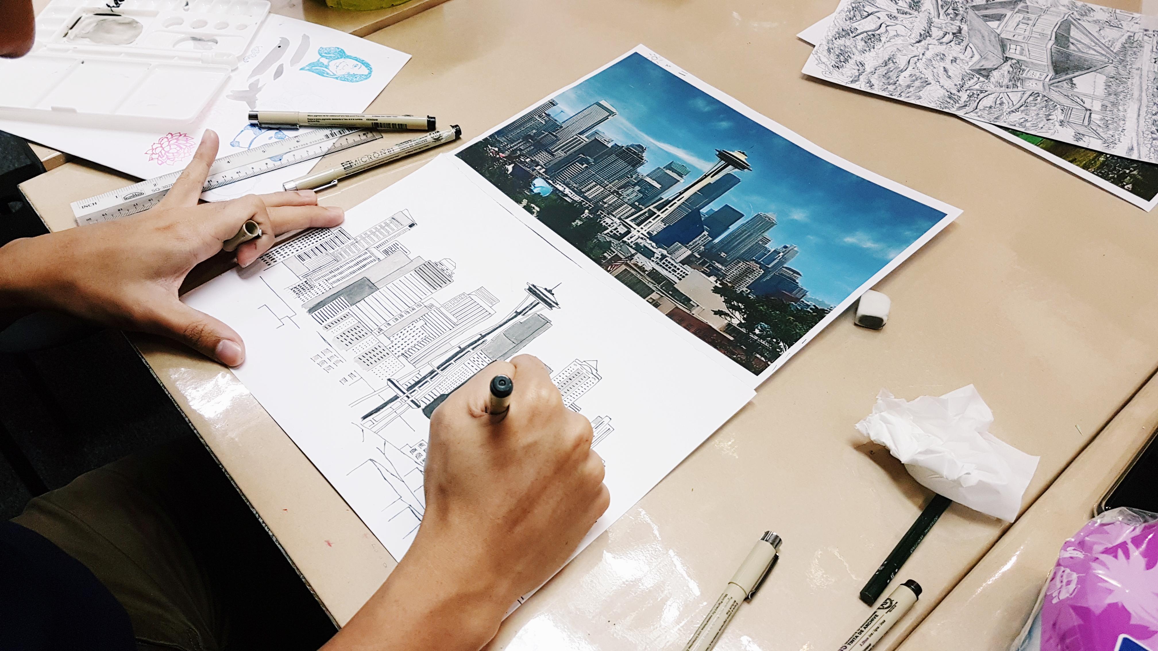 landscape drawing classes singapore