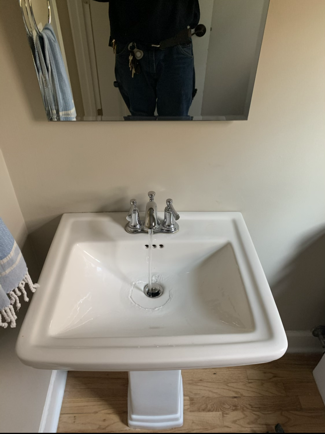 Lavatory faucet replacement