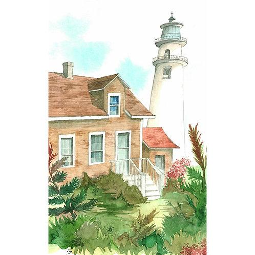 Aquarela Casa e Torre