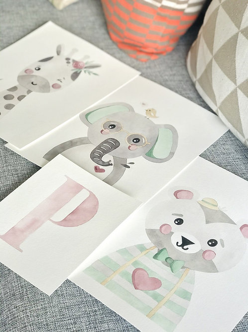 3 Aquarelas Infantis (encomenda)