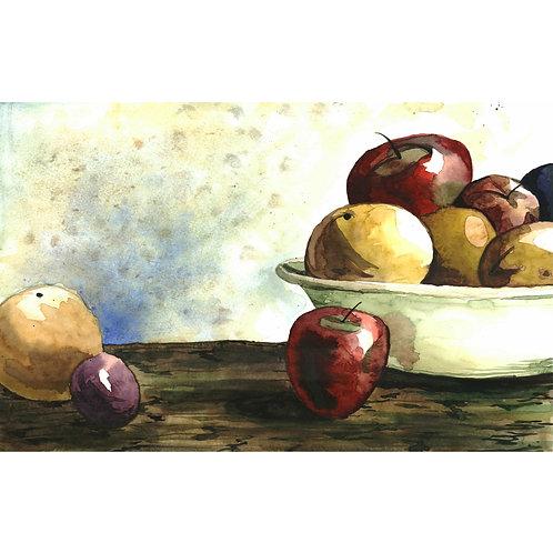 Aquarela Frutas