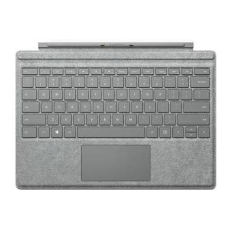 Clavier Microsoft AZERTY en alcantara Gris