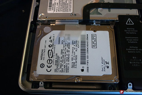 Changement Disque dur Sata 500 Go 2.5 pouces Mac Book Pro