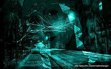 Коллаж Москва ночью и икона Богородицы