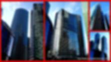 Москва-Сити, фотоколлаж из личных фотографий, сделанных Вадимом Шарыгиным