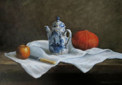 Still life with jug & squash