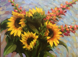 Sunflowers and Snapdragons