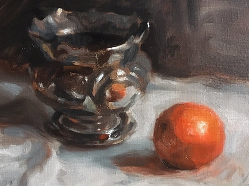 Orange with Silver Bowl
