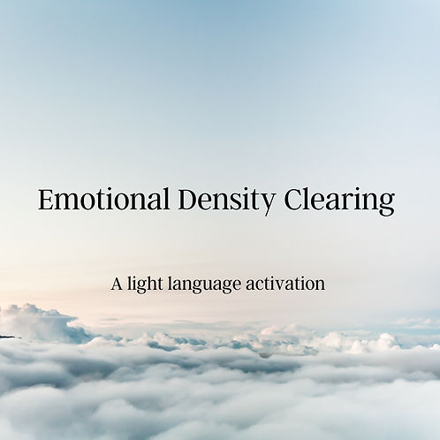 Emotional Density Clearing Activation