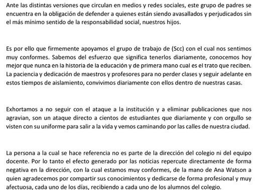 Carta Abierta Padres SCC