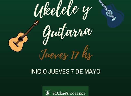 🎸 Clases de Ukelele y Guitarra a partir de mayo