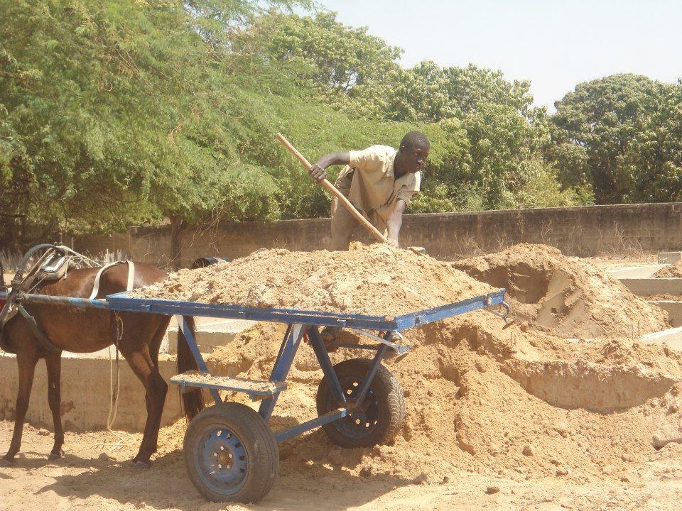 sable pour les briques