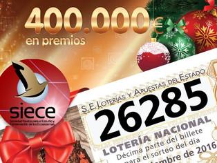 ¡Lotería de Navidad 2016 disponible!